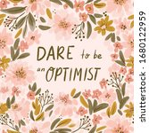 positive thinking floral...   Shutterstock . vector #1680122959