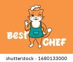best chef cat logo  cooking... | Shutterstock .eps vector #1680133000
