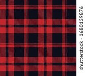 Tartan Plaid Red Line Fabric...