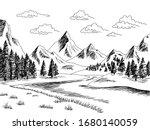 mountain river graphic black... | Shutterstock .eps vector #1680140059