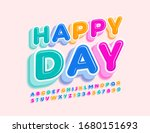 vector greeting card happy day... | Shutterstock .eps vector #1680151693
