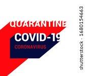 quarantine. covid 19... | Shutterstock .eps vector #1680154663