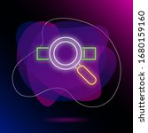 loupe and address bar neon sign....