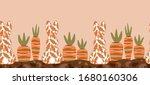garden bed  easter bunny... | Shutterstock .eps vector #1680160306