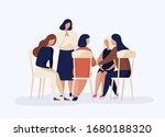 cartoon female sitting together ... | Shutterstock .eps vector #1680188320