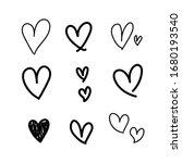 heart doodle  hand draw concept.... | Shutterstock .eps vector #1680193540