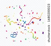 colorful confetti and ribbon...   Shutterstock .eps vector #1680200023