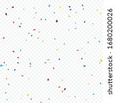 colorful confetti on... | Shutterstock .eps vector #1680200026