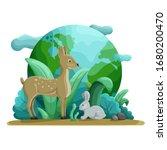 animals and nature. roe deer... | Shutterstock .eps vector #1680200470
