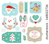 gift tags and christmas graphic ... | Shutterstock .eps vector #168022736