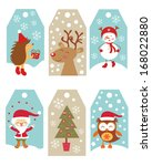 christmas gift tags | Shutterstock .eps vector #168022880