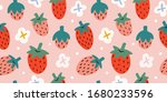 strawberries pattern  colorful... | Shutterstock .eps vector #1680233596