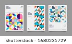 set of abstract geometric... | Shutterstock .eps vector #1680235729