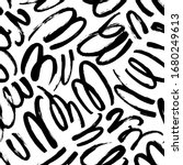 wavy and swirled brush strokes...   Shutterstock .eps vector #1680249613