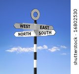 Direction Signpost Showing The...