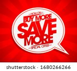 buy more save more banner... | Shutterstock . vector #1680266266