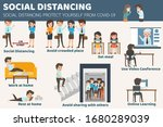 social distancing how to... | Shutterstock .eps vector #1680289039