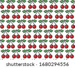 Cherries Pixel Seamless Pattern ...