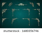 set of art deco gold... | Shutterstock .eps vector #1680356746