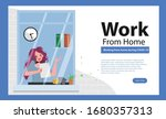 employees are working from home ... | Shutterstock .eps vector #1680357313