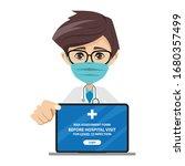 doctor presenting the risk... | Shutterstock .eps vector #1680357499