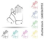 applause multi color set icon....