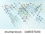 various connections implying a... | Shutterstock . vector #168037640