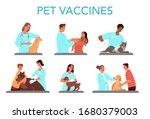 pet vaccination set. veterinary ... | Shutterstock .eps vector #1680379003