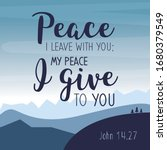 my peace i give you. bible...   Shutterstock .eps vector #1680379549