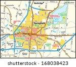 springfield  ohio area map   Shutterstock .eps vector #168038423