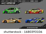 car wrap graphic design vector... | Shutterstock .eps vector #1680393106