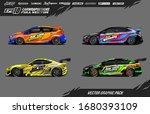 car wrap graphic design vector... | Shutterstock .eps vector #1680393109