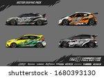 car wrap graphic design vector... | Shutterstock .eps vector #1680393130