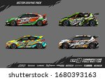 car wrap graphic design vector... | Shutterstock .eps vector #1680393163