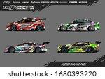 car wrap graphic design vector... | Shutterstock .eps vector #1680393220