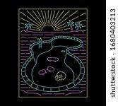 neon skate pool with skull... | Shutterstock .eps vector #1680403213
