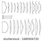 set of simple monochrome vector ... | Shutterstock .eps vector #1680406720