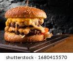 Big cheeseburger with lots of...