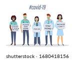 coronavirus covid 2019. doctors ... | Shutterstock .eps vector #1680418156