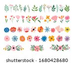 flowers and plants collection... | Shutterstock .eps vector #1680428680