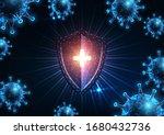 futuristic immune system... | Shutterstock .eps vector #1680432736