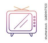 old tv nolan icon. simple thin...