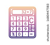 calculator nolan icon. simple...