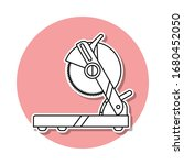 table saw sticker icon. simple...