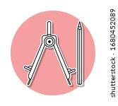 pencil and compasses sticker...