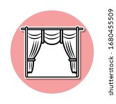 cinema curtains sticker icon....