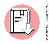 download a book sticker icon....
