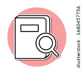 search for a book sticker icon. ...
