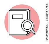 search for a book sticker icon. ...