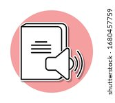 sound book sticker icon. simple ...